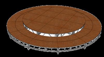 Сборно-разборный подиум круглый
