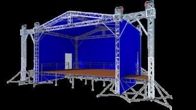 Двускатная крыша с порталами