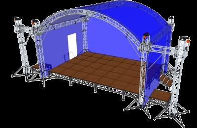 Арочная крыша с порталами