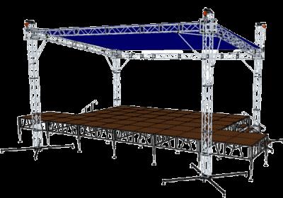 Односкатная крыша с порталами