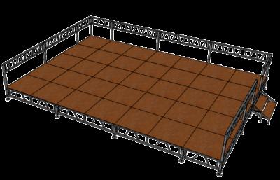 Сборно-разборный подиум прямоугольный