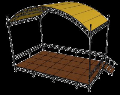 Односкатная крыша из стальных профилей