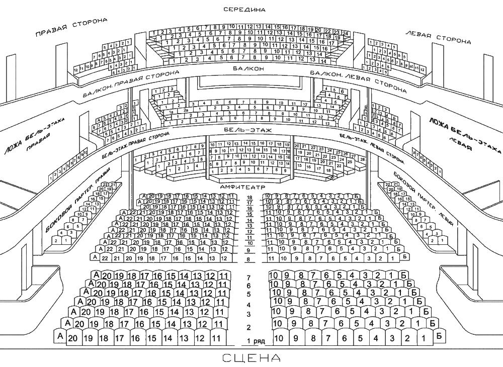 Мхат им чехова схема зала основная сцена зала